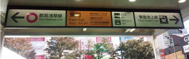 ① JR五反田駅東口を出て右に。